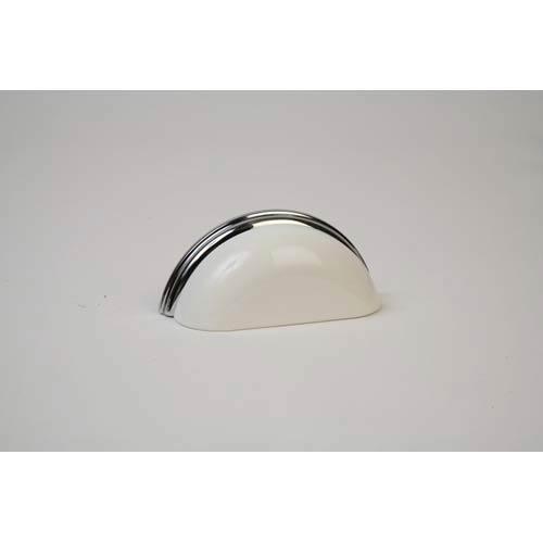 Polished Chrome 3.75-Inch Gloss White Pull