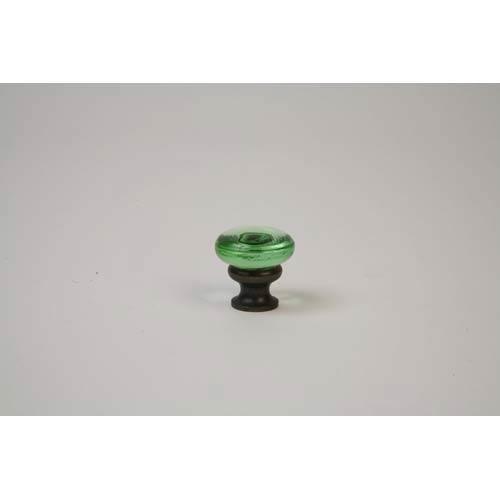 Oil Rubbed Bronze Transparent Green Knob