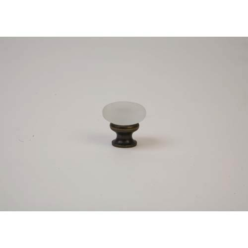 Oil Rubbed Bronze Frosted Clear Knob