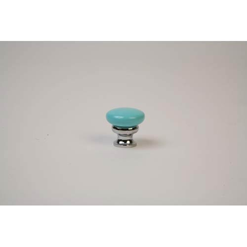 Polished Chrome Robin Egg Blue Knob