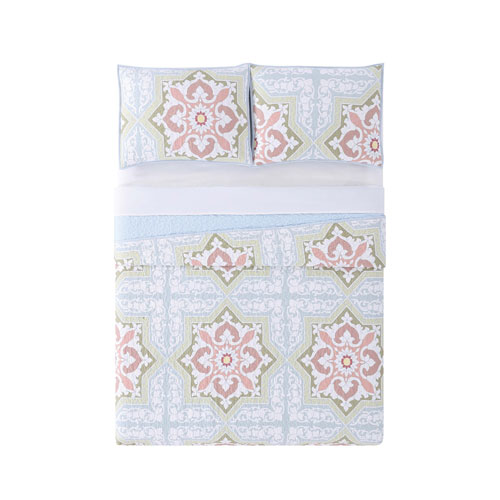 Sheffield Green King Three-Piece Quilt Set