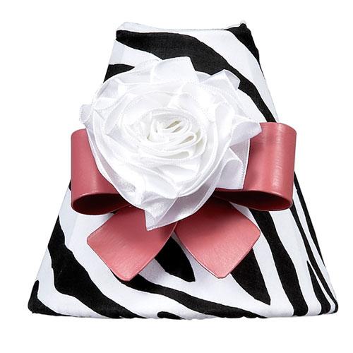 Zebra Print with Dark Pink Bow Magnet Nightlight