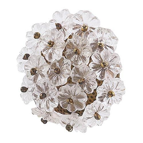 Flower Beads Clear Knob