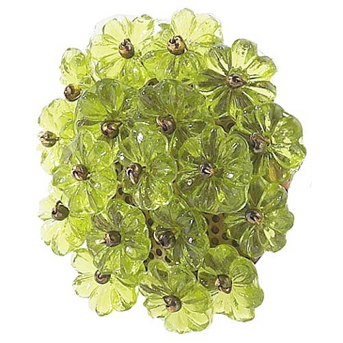 Flower Beads Green Knob