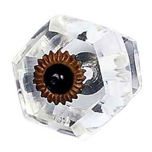 Curved Hexahedron Clear Knob