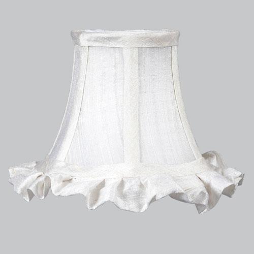 White Chandelier Shade - Ruffled Edge