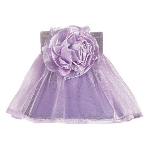 Ruffled Sheer Lavender 5-Inch Mini Chandelier Shade
