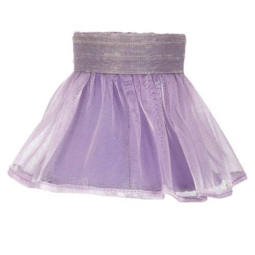 Ruffled Sheer Lavender 4-Inch Mini Chandelier Shade
