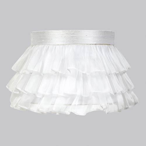 Ruffled Sheer White Lamp Shade