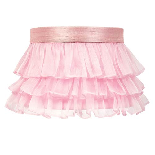 Jubilee Collection Ruffled Sheer Pink Lamp Shade