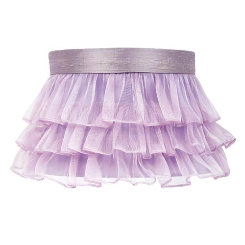 Jubilee Collection Ruffled Sheer Lavender Lamp Shade
