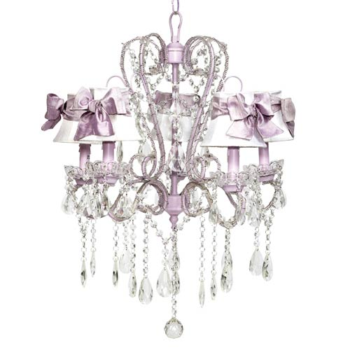Jubilee Collection Whimsical Lavender 20-Inch Five Light Chandelier