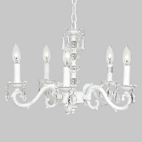 Jubilee Collection Turret White Five-Light Chandelier