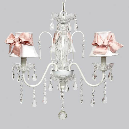 Jubilee Collection Jewel White Three Light 18-Inch Mini Chandelier