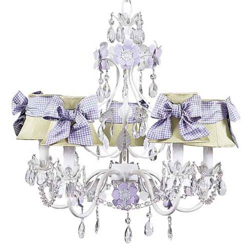 Mini lavender chandelier bellacor jubilee collection flower garden lavender and white five light mini chandelier with plain green chandelier aloadofball Image collections