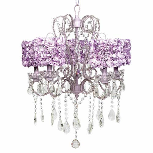 Jubilee Collection Whimsical Lavender Medium Sash Five Light Chandelier