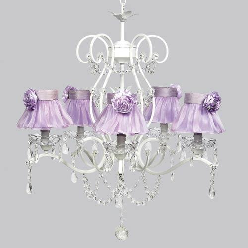 Jubilee Collection Grace White Five Light Chandelier