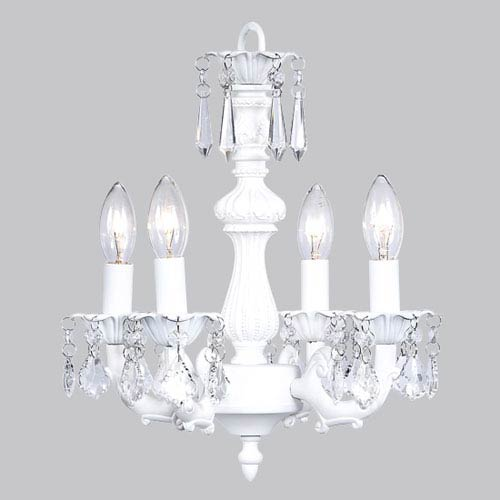 Fountain White Four-Light Mini Chandelier
