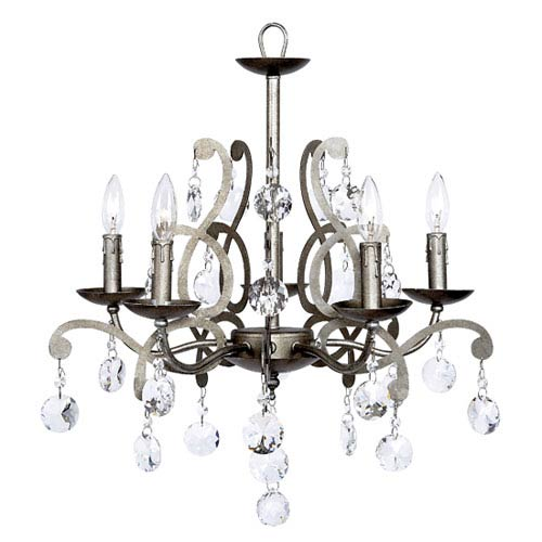 Jubilee Collection Elegance Pewter Five-Light Chandelier