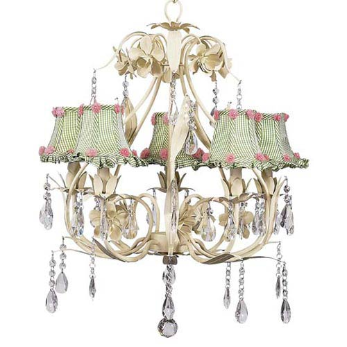 Pear shaped crystals chandelier bellacor jubilee collection ballroom ivory five light chandelier with ruffled edge green check chandelier shades aloadofball Image collections