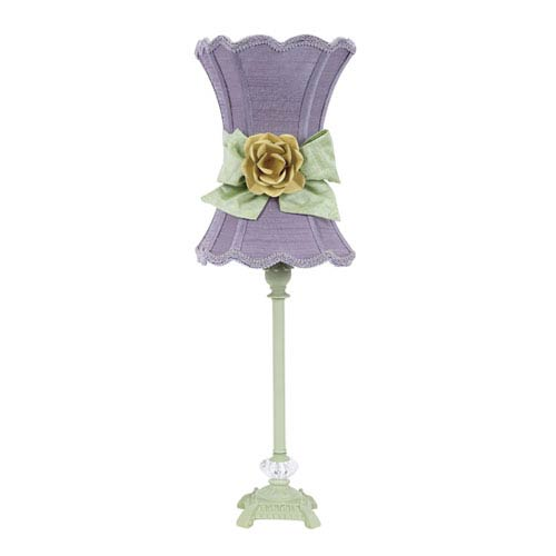 Lavender table lamp bellacor jubilee collection pistachio one light table lamp with lavender scalloped hourglass shade and green bow aloadofball Image collections
