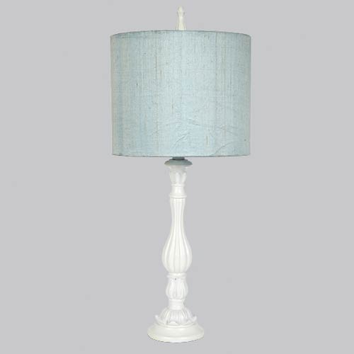 Lotus White 27-Inch One Light Table Lamp