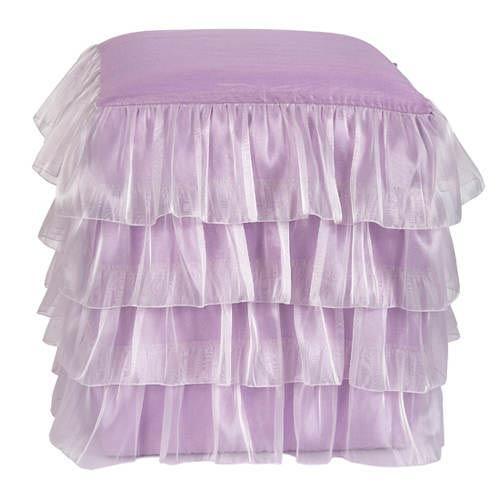 Ruffle Lavender Skirt Ottoman