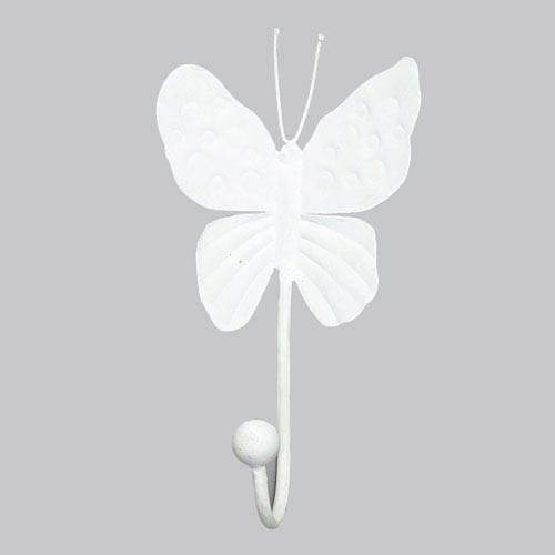 White Butterfly Wall Hook