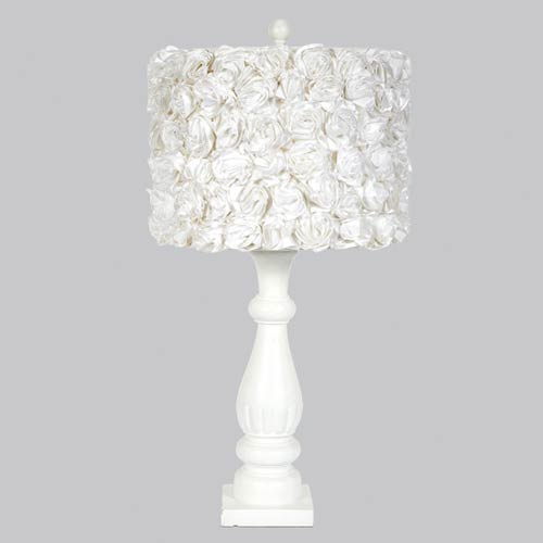Jubilee Collection Rose Garden White 26.5-Inch One Light Table Lamp