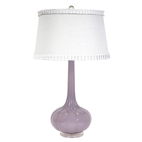 Squash Base Lavender Opaque One Light Table Lamp