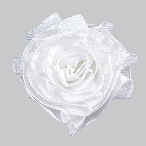 Ribbon Rose Magnet - White
