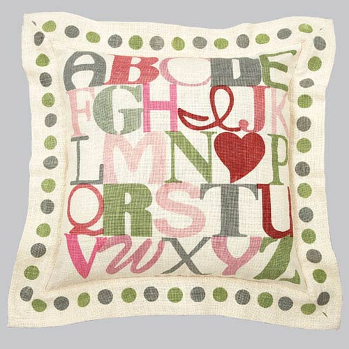Jubilee Collection Alphabet Pillow