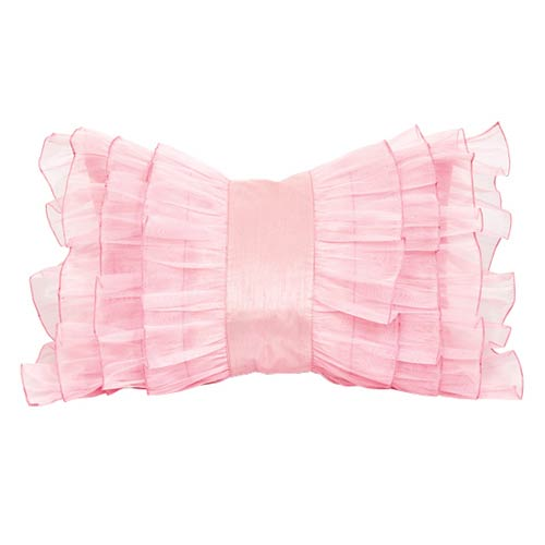 Jubilee Collection Ruffle Pink 14 x 20 Decorative Pillow