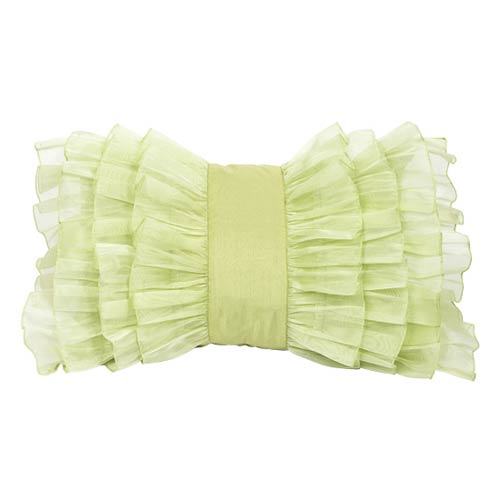 Jubilee Collection Ruffle Green 14 x 20 Decorative Pillow