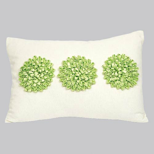 Jubilee Collection Dahlia Green 14 x 20 Decorative Pillow