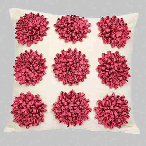 Dahlia Pink Flower 18 x 18 Decorative Pillow