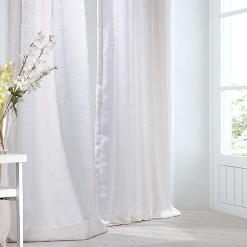 Rice White 84 x 50-Inch Curtain Single Panel
