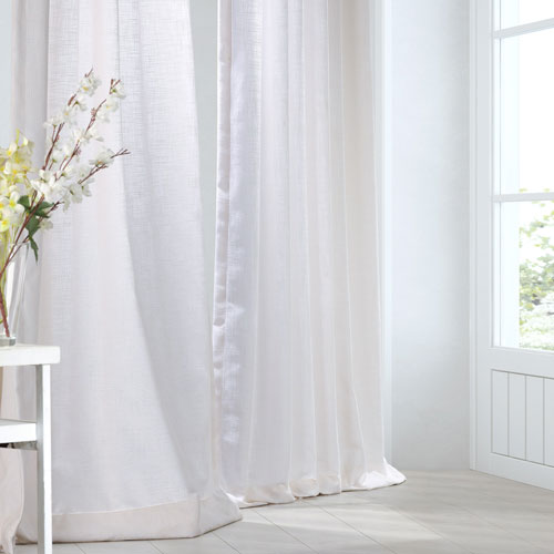 Rice White 108 x 50-Inch Curtain Single Panel