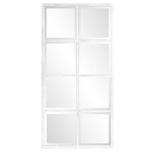 Atrium White Washed Windowpane Mirror
