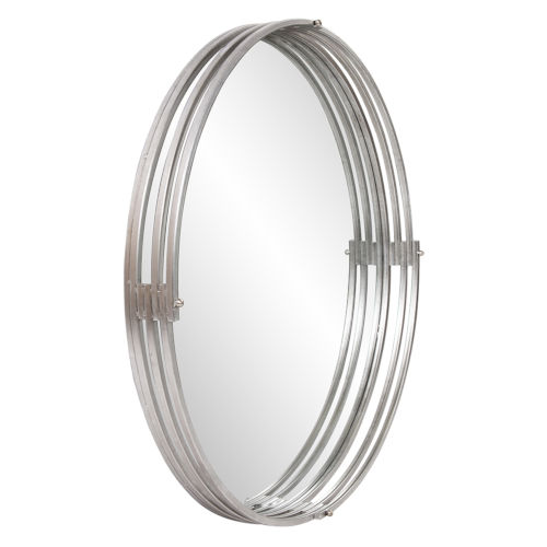 Demir Bright Silver Round Wall Mirror