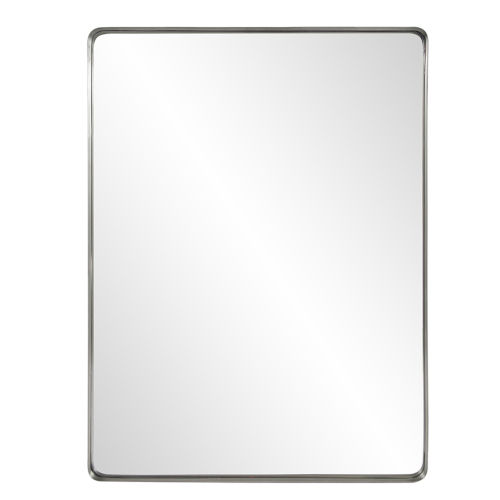 Steele Brushed Silver Wall Mirror