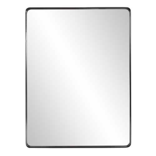 Steele Brushed Black Wall Mirror