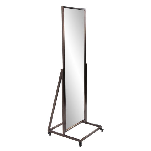 Albany Brushed Brass Standing Mirror