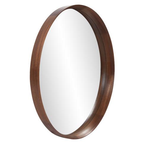 Reagan Reddish Brown Round Wall Mirror