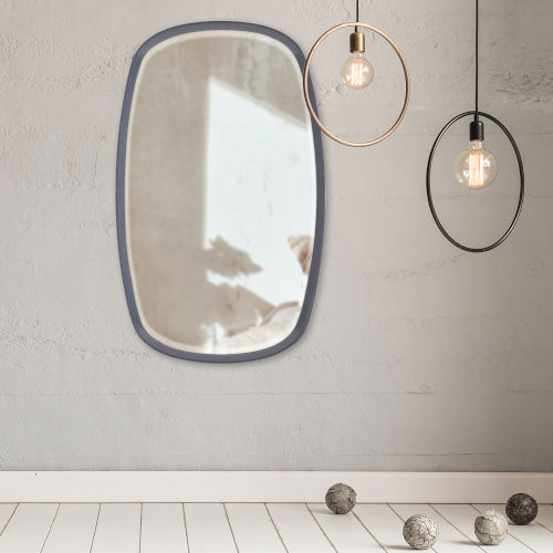 Asher Charcoal Gray Oval Mirror