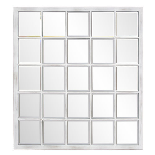 Superior Antique White Wall Mirror
