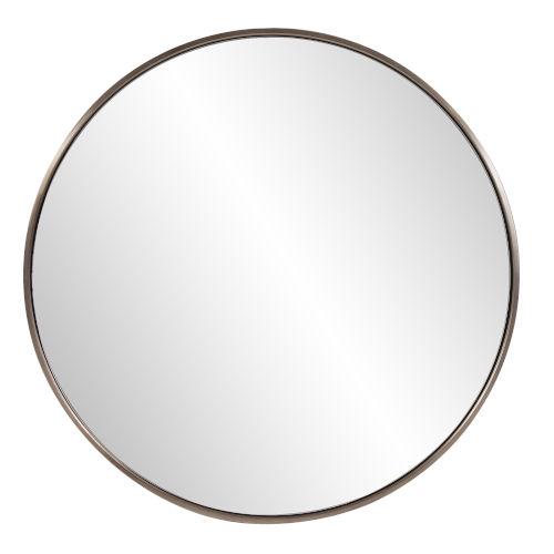 Copenhagen Brushed Brass Round Wall Mirror