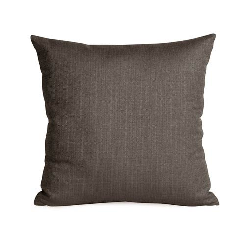 Howard Elliott Collection Sterling Charcoal 16 x 16-Inch Pillow with Down Insert