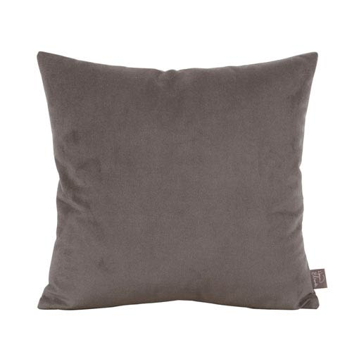 Howard Elliott Collection Bella Pewter 16 x 16-Inch Pillow with Down Insert