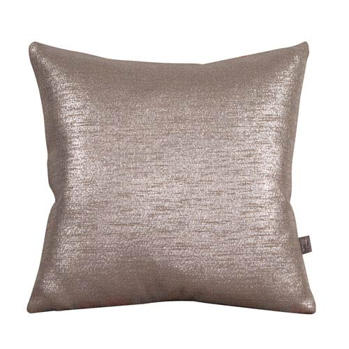 Howard Elliott Collection Glam Pewter 16 x 16-Inch Pillow with Down Insert